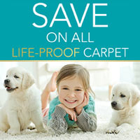 Need carpet that's pet-proof, kid-proof, LIFE PROOF? We have it - stop by and see our great selections!