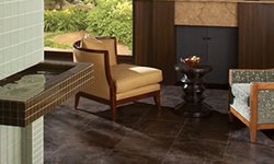 Natural tile flooring