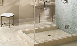 Shower tile and enclosure
